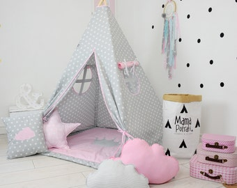 Playtent, Tent For Kids, Tent, Play Teepee, Reading Lamp, Tee Pee, Teepee Tent, Ready To Ship Teepee, Pink Teepee, Tent For Girls, Wigwam