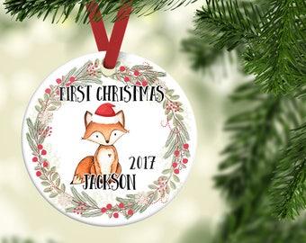 Baby's First Christmas Ornament| Boy Christmas Ornament| Personalized Children's Ornament| Baby's first Christmas| Baby boy gift| CO23