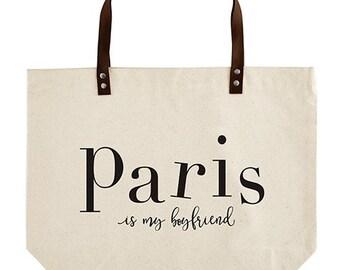 Boyfriend Canvas, Canvas Tote, Messenger Bag, Shopping Bag, Market Bag, Book Bag