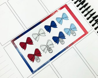 Party Like 1776 // Bows (Glossy Planner Stickers)