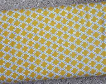 Sale!! Lodge Lattice Mustard Yellow Quatrefoil Fabric by Joel Dewberry True Colors Collection Fabric by the Yard