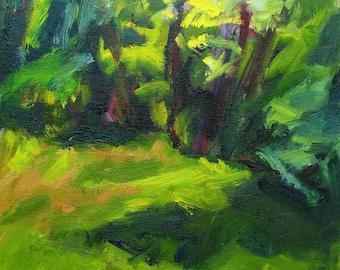 Glade GICLEE ART PRINT 8 x 11 summer landscape dark green