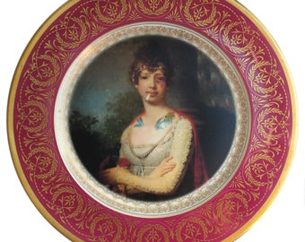 Katherine the Terrible Plate 9.75""