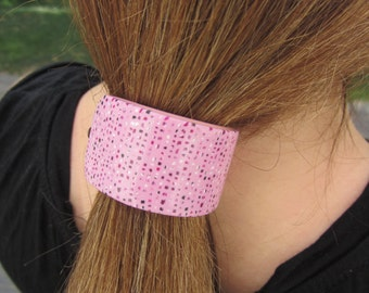 Ponytail Holder, Gift Under 15, Gift-For-Her, Ponytail Holder Womens, Barrette Boho Hers,  Womens Hair Clip Pink, Spring Fashion