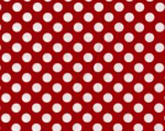 Red Ta Dots Fabric - Michael Miller Fabric -  Red Polka Dot Fabric