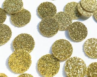 Gold Glitter Circle Confetti • Wedding Confetti • Bachelorette Confetti • Birthday Confetti • Bridal Shower Confetti • Party Decor