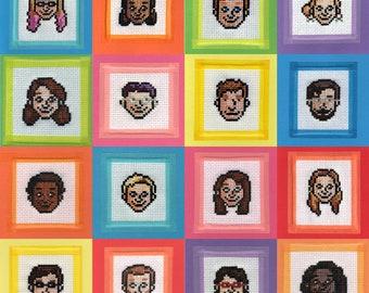 Personalised Pixel Portrait Pattern