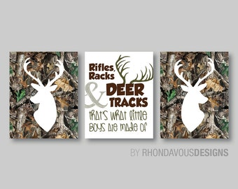 Baby Boy Nursery Art Print - Boy Nursery Decor.  Baby Camo Nursery. Boy Camouflage. Camouflage Bedroom. Deer Nursery. Deer Bedroom. (NS-303)