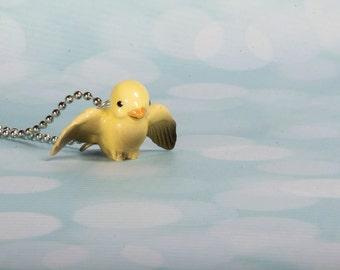 Yellow Bird Necklace -  Bird Pendant Necklace -  Handmade Necklace - Yellow Bird- Bird Jewellery - Bird Necklace - Yellow Bird - Canary Bird