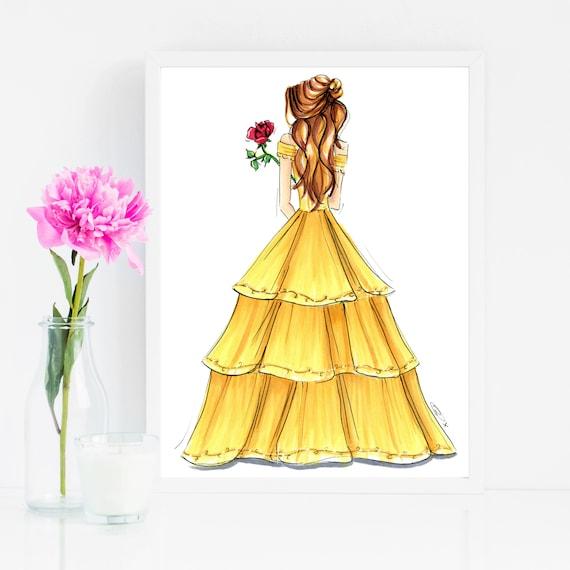 Beauty and the Beast / Princess Belle / Art Print / Disney