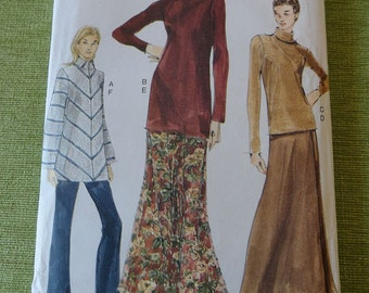 Vogue 7122  Misses Top Skirt and Pants Sewing Pattern size 6 8 10 UNCUT
