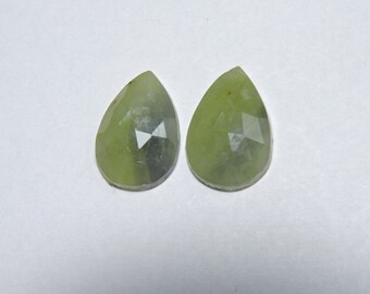 2 Pieces Beautiful Natural Sapphire Faceted Rose Cut Pear Shaped Loose Gemstone Size 16X10 MM