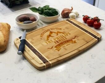 Personalized Cutting Board, Custom Cutting Board,Engraved Cutting Board,Custom Wedding Gift Cabin Cutting board --CB-BAMM-Phillips Cabin