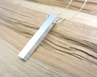 Minimalist Necklace Contemporary Jewelry Aluminum Pendant Necklace