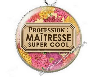 Pendant cabochon resin profession: teacher p57
