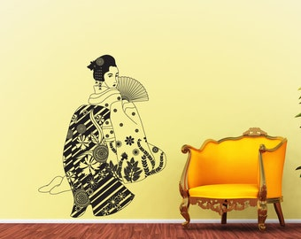 Vinyl Wall Art Decal Sticker Seductive Geisha OSDC675s