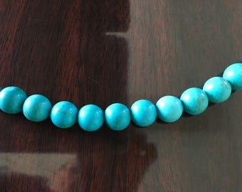 Turquoise Round 14-15mm round gemstone beads