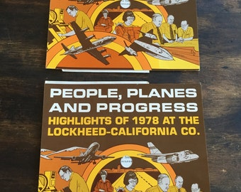 1978 Lockheed - California (Martin) Employee Year End Highlights Record / LP / Engineering / People, Planes and Progress