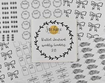 Bullet Journal Weekly Headers 2.0 Sticker Book - NO CODES PLEASE