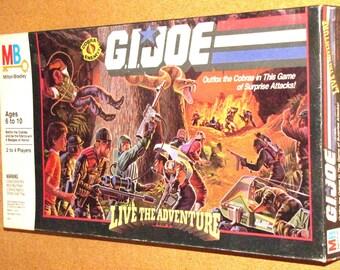 Vintage 1986 G.I. JOE LIVE the ADVENTURE Board Game