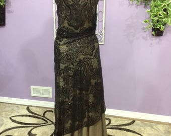 Black Lace with gold under tone