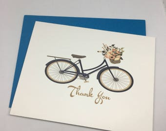 Thank You Cards / Bicycle Cards / Friendship / Thanks / Blank Cards