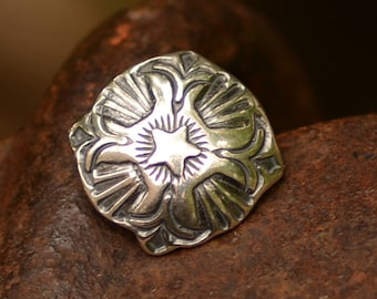 Artisan Sterling Silver Southwest Button Clasp
