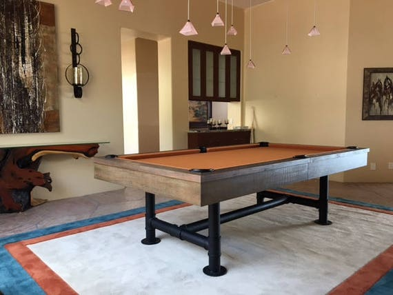 7 Or 8 Industrial Pool Table Billiards Dining