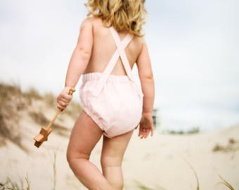 Baby Romper, Baby Pink Romper, Kids Romper, Dune Romper, Pink Romper, Sunsuit, Playsuit, Baby Sunsuit