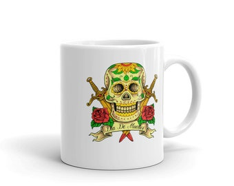 Skull Day Of The Dead Tattoo  - Coffee Cup Mug