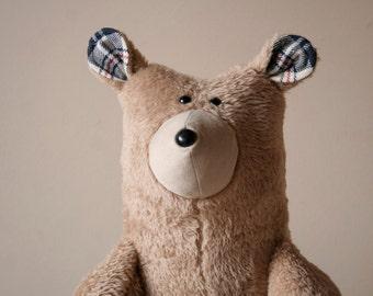 Big Honey Bear, Soft Brown Plush Big Bear, Teddy Bear, Cuddly Plush