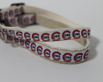 Chicago Cubs hemp cat or dog collar