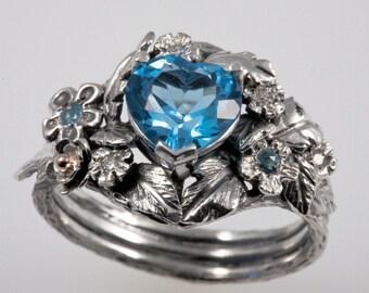 Blue Topaz Ice Ring