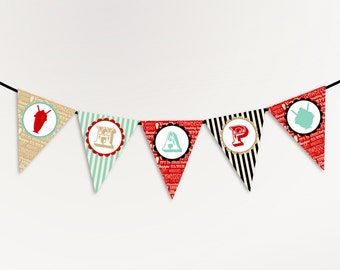 Ice Cream Party Banner - Happy Birthday Banner