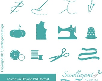 PERSONAL USE - Sewing & Quilting Vector Icons
