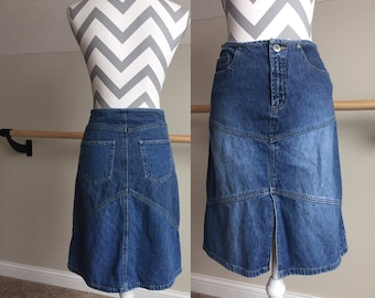 Limited Too Denim Knee-Length Skirt wih Slit