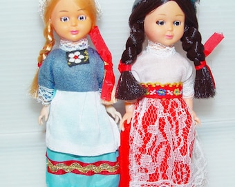 Vintage Dolls-Collectible Retro-Spanish and Dutch costume