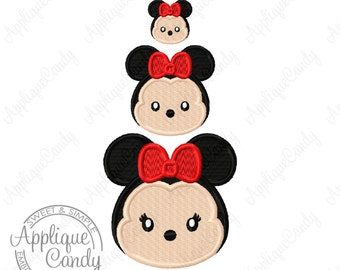 Miss Mouse TT Mini Solid Fill Machine Embroidery Design 1x1 2x2 3x3 minnie tsum Cute INSTANT DOWNLOAD