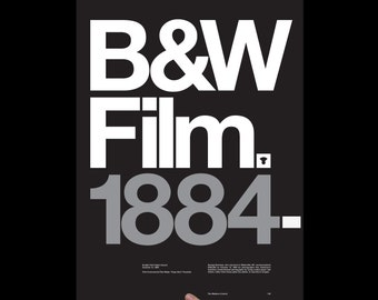Art Print Black & White Film, Screenprint, Print, Poster, Typography Print, Office Art, Living Room Art, Wall Decor, Photography, Kodak