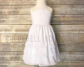 3-Tier Chiffon Flower Girl Dress - Toddler Flower Girl Dress - Chiffon Flower Girl - Chiffon Girls Dress - Modern Toddler Dress