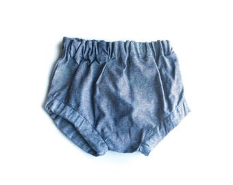 Ready to Ship 0-3M Bloomers || Chambray