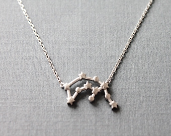 Aquarius Constellation Necklace  Aquarius Necklace  Zodiac necklace Constellation Jewelry