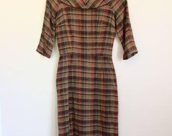 Vintage Tweed Wiggle Dress