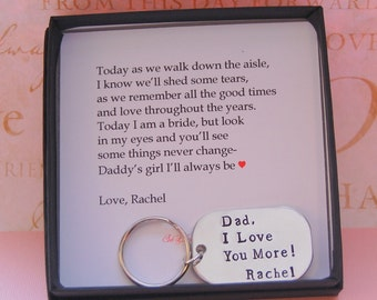 Father of the Bride gift, from bride to dad, To Dad from daughter, Dad gift on wedding day, father of the bride