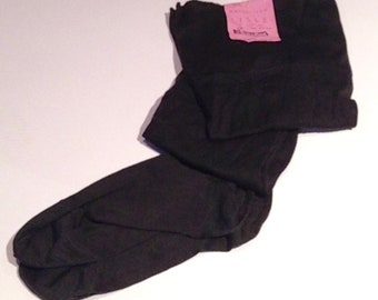 Vintage 1940s Black 'Swingtime' Seamed Lisle Stockings - Unworn