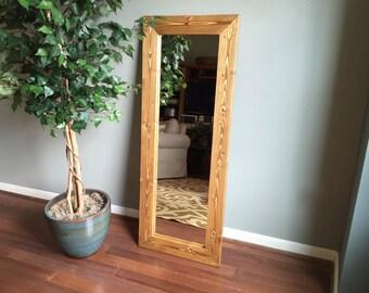 Wood Framed Full-Length Mirror
