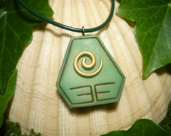 Earthbender Amulet - handcrafted Pendant - Avatar The last Airbender, Legend of Korra