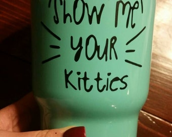 Show me your kitties!!! Teal RTIC 30oz tumbler! Perfect cup for your favorite cat lover!!