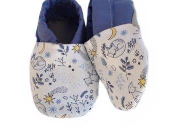 Sweet Dreams Mr. Fox Soft Sole Baby Shoes, booties, pram shoes