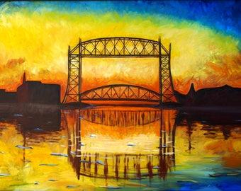 Duluth Lift Bridge Greeting Cards